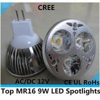 Wholesale led chip white color mr16 W LED light warm and cool available MR163X3W led spotlight led bulb