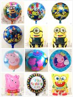 Cheap 2015 new Aluminium pig peppa balloon Despicable Me Minions Foil Helium Balloons Birthday Party Decoration Supplies Kids Gift Classci Toy