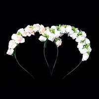 artificial flower delivery - free delivery new Romantic seaside style artificial flowers garland headdress bride bridesmaid child wearing a wreath