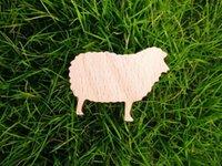 wood sheep - wood brooch sheep brooches pin