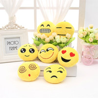 Wholesale 2016 Wedding Keychains wedding gift Lovely Emoji Smiley keychains cm love keychainS Keychain Favors for Christmas gift