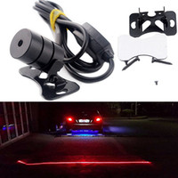 Wholesale New Set Car Red LED Laser Rear Tail Brake Fog Light Waterproof Anti Collision Rear end Auto Brake Parking Lamp Warning Safety