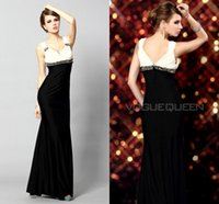 Cheap Mother of The Bride Groom Dresses Pant Gowns Backless Crystal Evening Dress Cheap Long For Wedding 2015 Black and White Formal Suits Crystal