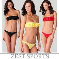 Cheap HOT 2015 Petal Low-cut Bikini,High-grade fabrics, comfortable fabric sexy, beautiful, lady women girl swimwear Most Popular