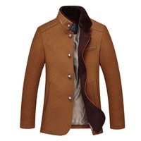 australia jacket - Fall New Plus Size M XXXL European and American Men Simple Fashion Mandarin Single Breasted Australia Wooled Coat amp jackets jn1110b