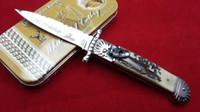 antler handle - AKC Hubertus Solingen patron guardian Antler handle single action pocket knife folding knife camping knife freeshipping