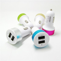 ac adaptor for car - Double USB Car Charger Contrast Color Adaptor Output V A For IPad IPhone s plus Tablet PC HTC