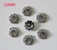 Wholesale mm Flatback Rhinestone Button For Hair Flower Wedding Invitation YMBT01085