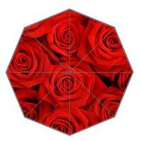 190T Nylon Fabric beautiful umbrellas sale - Custom Umbrella Out Door Supply Hot Sale Fashion Red Beautiful Roses Portable Foldable Umbrellas UN