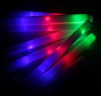 glow sticks - EMS FREE Sponge Glow Stick Colourful Stick LED foam stick foam light sticks glow sticks concert tuba STICK sponge sticks