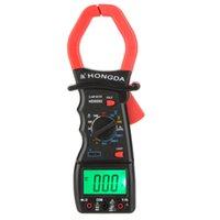 Wholesale HD HD9592 Digital Clamp Meter Ammeter Voltmeter Ohmmeter Temperature Meter w Frequency Test LCD Backlight Multimeter order lt no track