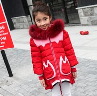 Wholesale 2015 girls down jacket hooded new style fashion warm baby clothes winter cm cm children down jacket in stock AB