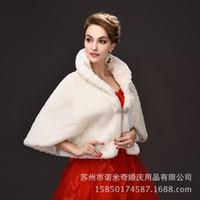 rabbit coat - Winter Bridal Shawl Wraps Imitation Rabbit Hair Coat Raglan Sleeve Ivory Wedding Fur Shawls Warm Waistcoat Evening Party