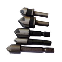 angle drill bit - 5PC Countersink Drill Bit Set Counter Sink Chamfer Bits Point Angle