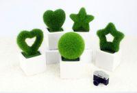 square vase - Simulation of square ceramic vase green plant Flower Pots Planters Decorative Vase Wedding Home Decoration