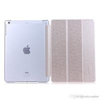 Wholesale 3 Fold Slim Flip Smart Case Cover Transparent Clear Back Hard PC For Apple iPad Air With Sleep Wake UP Stand