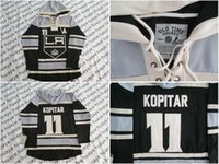 best old clothes - Factory Outlet Best quality Los Angeles Kings Anze Kopitar Black A Patch Old Time Hockey LA Hoodie Hoodies Ice Hockey Clothe