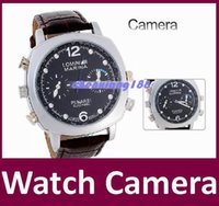 Ver video digital de pulsera de cuero cámara grabadora Reloj Reloj mini DVR de alta calidad de la manera impermeable mini cámara del reloj