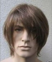 Wholesale Handsome short brown synthetical healthy hair men s wig