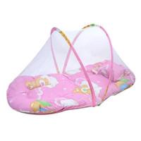 Wholesale 2015 Home cm x cm Elegant infant Baby Bed mosquito Cushion Portable Folding Crib Mattress Childs