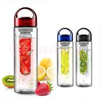 bottle water bottle - 100pcs CCA2902 High Quality Solid Fruit Infuser Water Bottle Fruit Infuser Sports Bottle Flip Top Lid Made of Durable Eastman Tritan Cup
