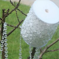bead chain curtain - 99 Feet Meters Clear Garland Diamond Strand Hanging Crystal Acrylic Bead Curtain Chains Party Tree Wedding Centerpiece Decor