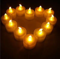 battery tea lights - High Quality mm Flameless LED Tealight Tea Candles Light Battery Operated Electric candle Wedding Birthday Party Christmas Decorations