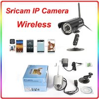 Wholesale New Sricam AP003 P SD Indoor Outdoor Waterproof IP Security Wifi Camera Wireless Alarm CCTV System White Silver Colors