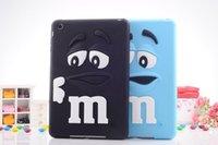 apple beans - 3D Cartoon M M Kids Chocolate Beans Silicone Case cover For iPad ipad mini