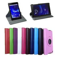 En gros, pour les nouvelles Google Nexus 7 FHD II 2nd Gen 360 cuir TOURNANT Housse