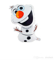 White animal helium balloons - Frozen Olaf Balloons Aluminum Novelty Snowman Foil Helium Balloon Wedding Birthday Party Decoration For Children DHL Free Factory Direct