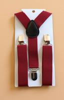 Yellow active braces - 20pcs Wedding Burgandy Suspenders Ring Bearer Outfit Groomsmen Toddler Boy Girl Braces