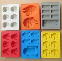 Wholesale Silicone star wars ice cube tray molds Creative US DIY model FDA silicone chocolate cake mold ice box fast shipping