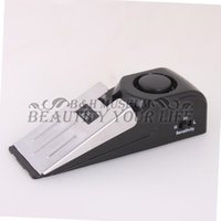 Wholesale 10pcs dB Security Home Wedge Shaped Door Stop Stopper Alarm Block Blocking Systerm YKS
