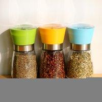 Envío Gratuito Glass molino de pimienta molino de pimienta amoladora manual de Titular de la coctelera de la especia sal condimento envase tarro Nueva