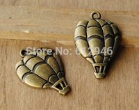 Wholesale x25mm Antique Bronze Hot Air Balloon Charm Pendant A451