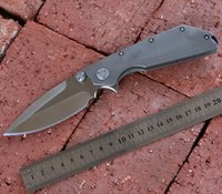 Folding Blade camping - Microtech DOC made Bearing washer Folding Camping EDC knives TC4 Titanium alloy handle