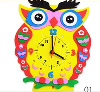 Wholesale EVA clock handmade children s knowledge aids early childhood enlightenment toy creative DIY Paste