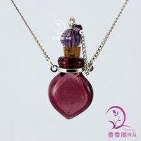 murano glass - Murano Glass Perfume Necklace Small Heart