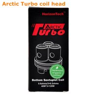 Tanque turbo ártico Baratos-100% Original Turbo del horizonte ártico Turbo de reemplazo bobina de submarina Bobina de Sextuplet 0.2ohm 0.3ohm 0.6ohm bobina occ Turbo Arctic tanque ajuste 40-100w