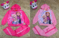 Wholesale Frozen kids cotton suits Autumn and Winter Girls Plus Velvet Thick warm outfits Children Clothing HX