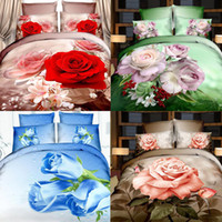 Wholesale Home Textiles d bedding sets bedclothes duvet cover sheet pillowcase Queen king twin tiger flower bedspread bed linen