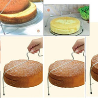 baking wire - Adjustable Stainless Steel Wire Cake Slicer Level Leveler Slices Kitchen Accessories Cutter Tool Baking Tools H13273