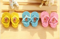 Wholesale New Cute Cartoon Slippers Pencil Eraser Office Stationery Toy Mini Erasers for Kids Children Gift