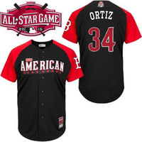 baseball league teams - 30 Teams David Ortiz Jerseys All Star Baseball Jersey Boston Red Sox Authentic American League Embroidery stitched Team Logo
