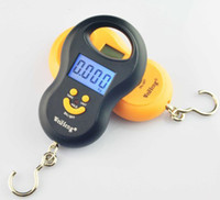 Wholesale 50Kg g Portable Handy Pocket Smile Mini Electronic Digital LCD Scale Hanging Fishing Hook Lage Balance Weight Weighing Scales g