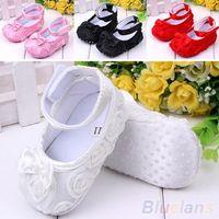 Wholesale Girl Baby Shoes Crib Comfortable AntiSlip Sandal Princess Toddler months OLS