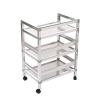 Wholesale 1Pc Top Pc Salon Tray Trolley Cart Hair Barber Beauty Equipment Storage Rolling Shelf Brand New