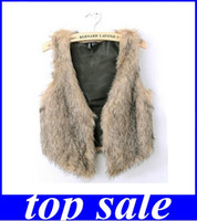 best faux fur vest - ms best selling fashion noble elaborate waistcoat imitation raccoon fur vest new arrive