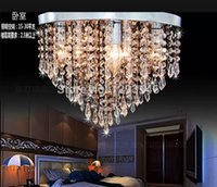 Wholesale modern led crystal ceiling lamps fashionand Low price crystal ceiling lighting for dining room bed room decoration